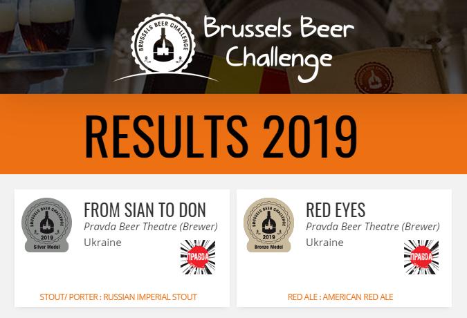 Театр пива Правда, перемога, победа russels Beer Challenge 2019