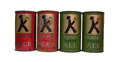 vintage beercans, пивные банки, жестяные банки пиво, винтажные пивные банки, Krueger's Special Beer, тара для пива