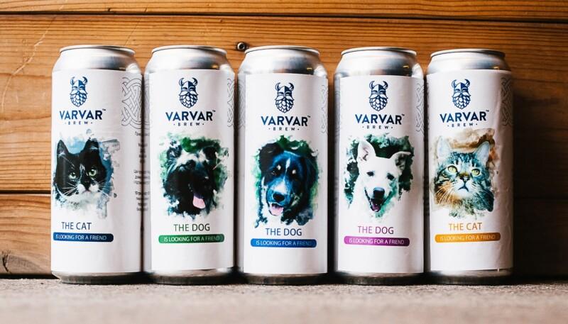 Happy Paw, Varvar Brew, благотворительность, пиво с фото животных